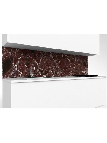 Steigleitung Küche aus Rosso Levanto Marmor