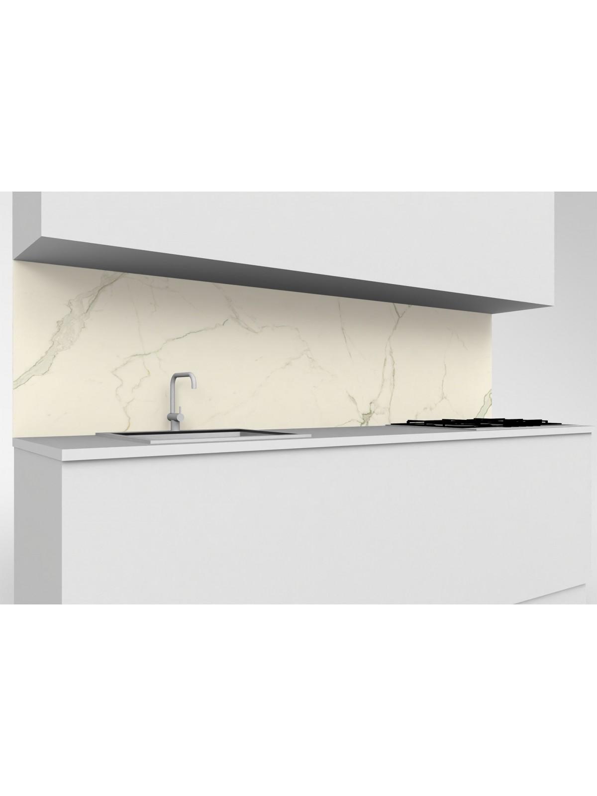 Erhöhte obere mobile Küche in Keramik Atlas Concorde Calacatta Extra