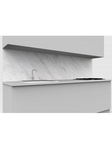 Erhöhte obere mobile Küche in weißem Marmor Carrara