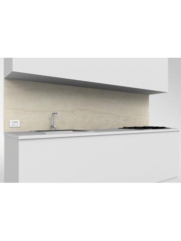 Erhöhte obere mobile Küche Botticino Marmor