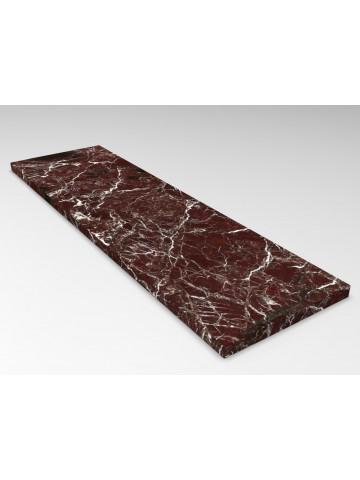 Abdeckungen in Rosso Levanto Marmor