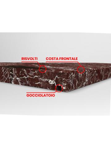 Copertina in Marmo Rosso Levanto