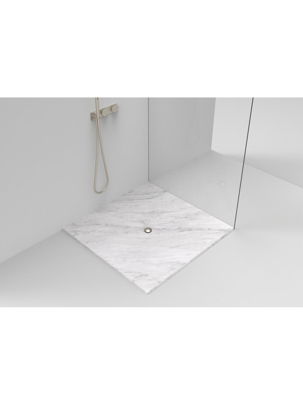 Piatto doccia Filopavimento in Bianco di Carrara