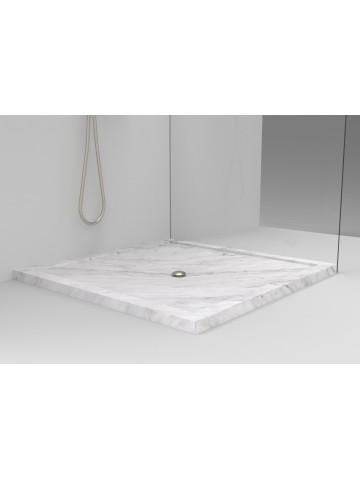 Piatto doccia Soprapavimento in Bianco di Carrara