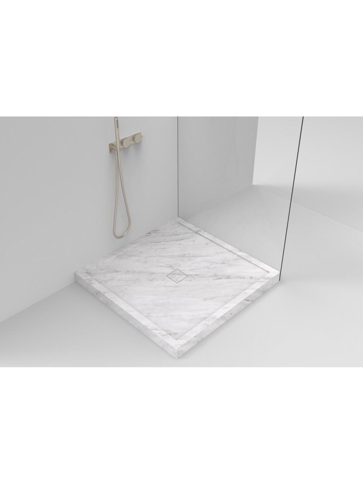 Weiße Duschplatte des Autos (Marmorpfahl)