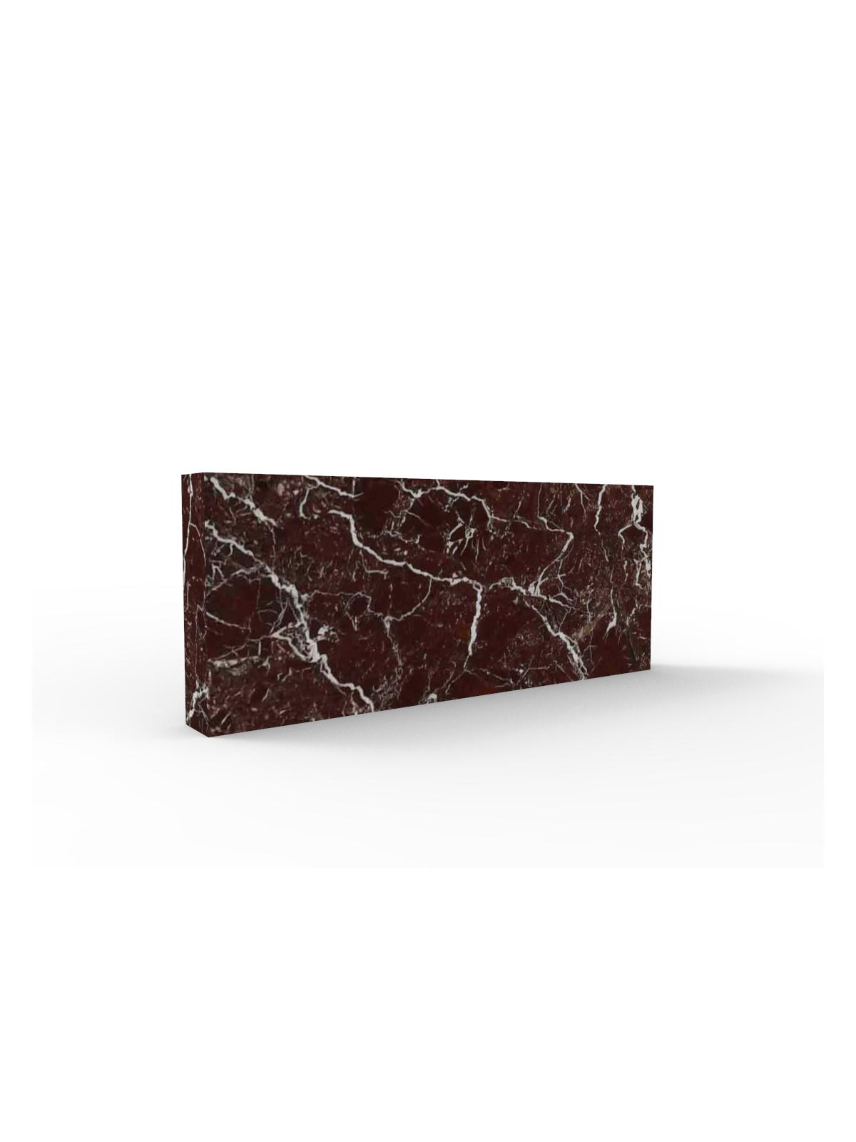 Sockelleisten in Rosso Levanto Marmor