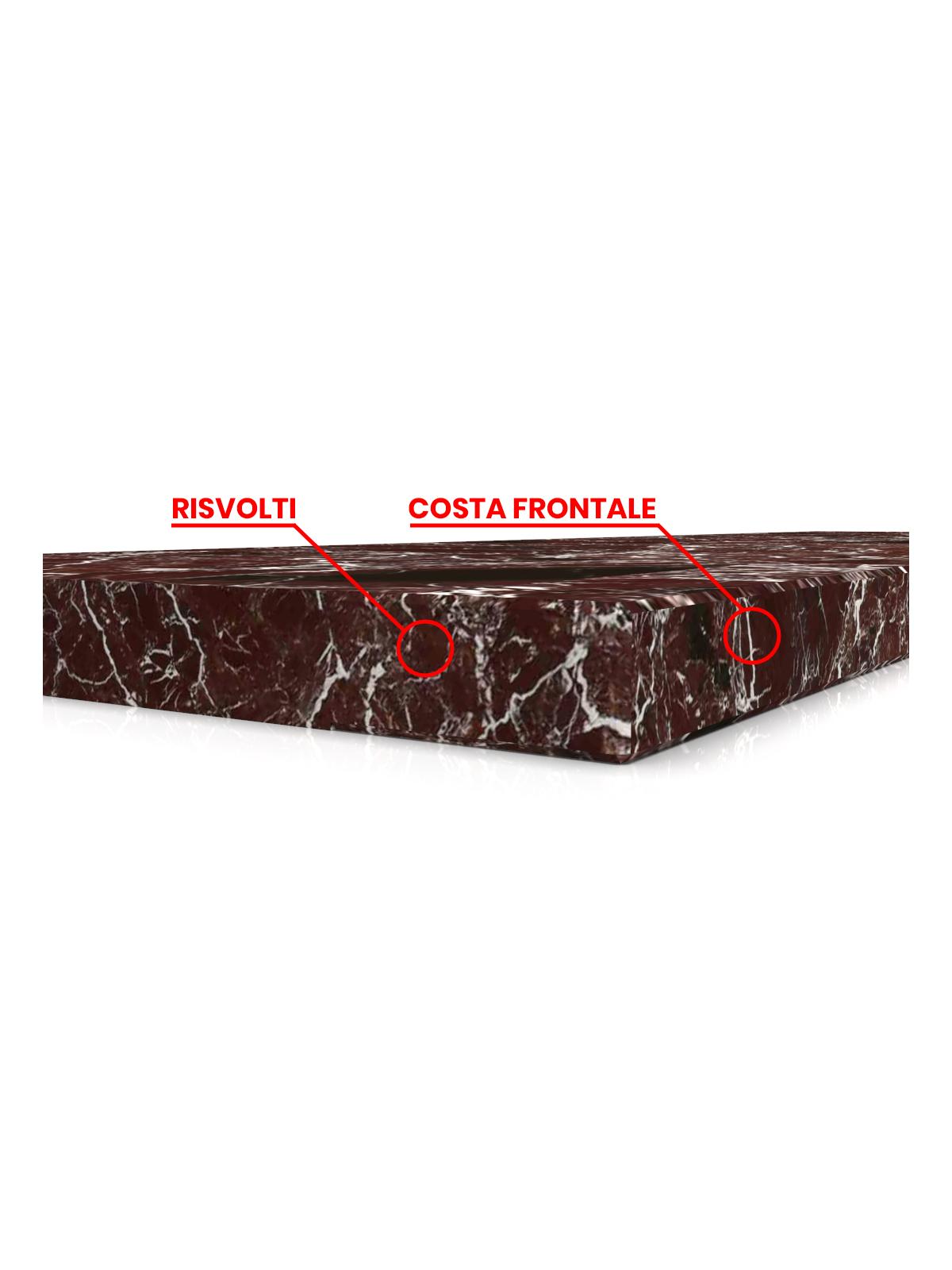 Trittstufe aus Rosso Levanto Marmor
