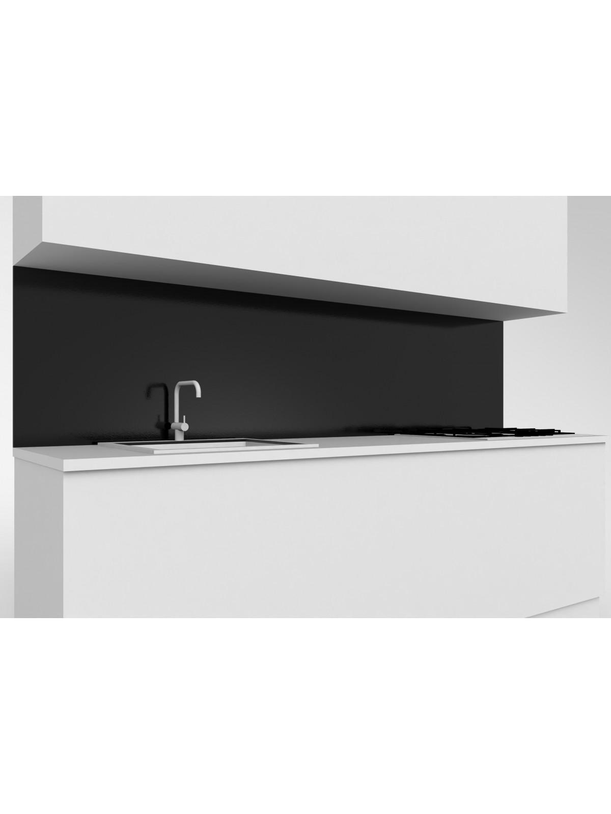 Erhöhte obere mobile Küche in Absolut Schwarz