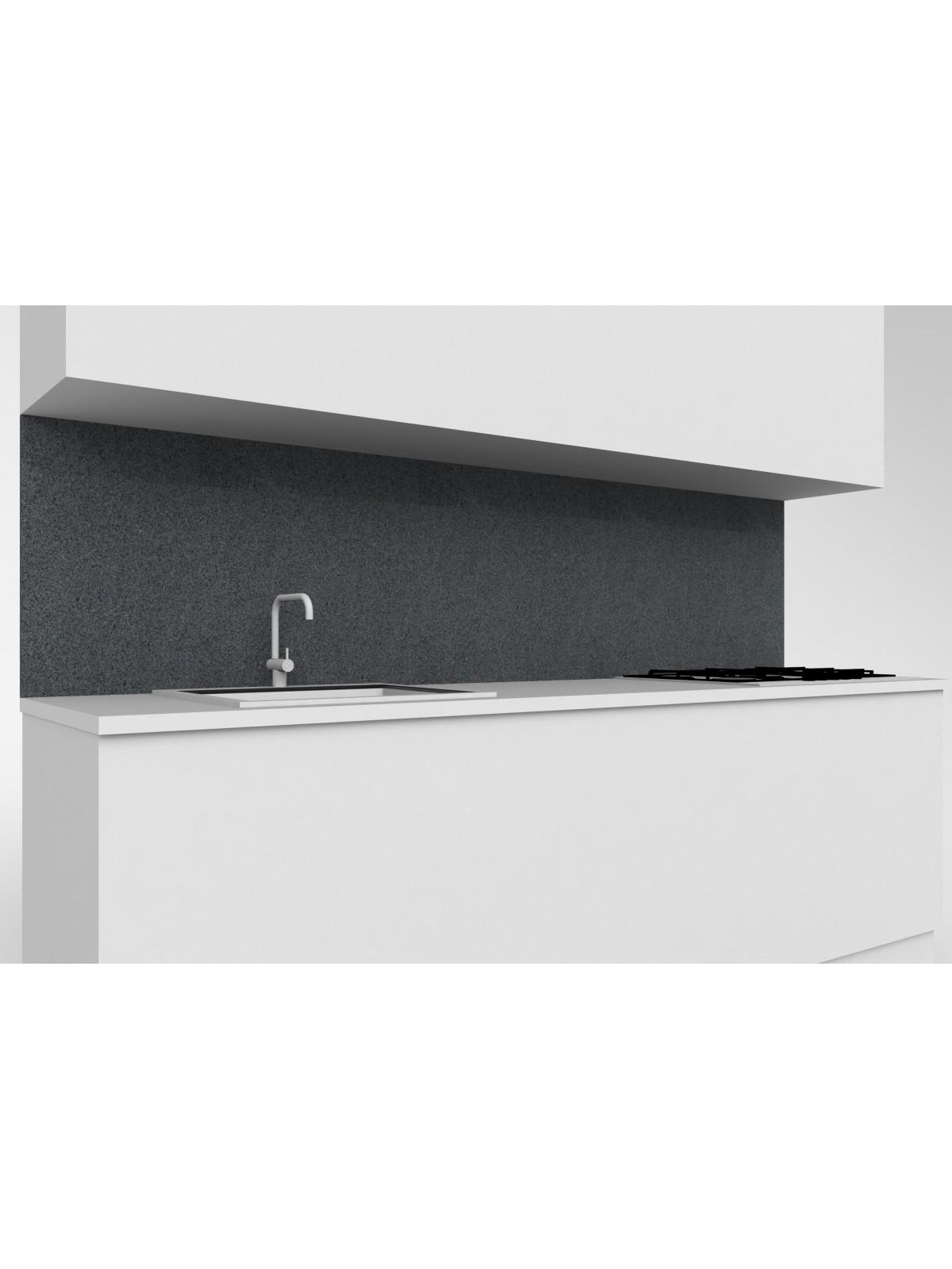 Erhöhte obere mobile Küche in Diorit Granit Dunkel
