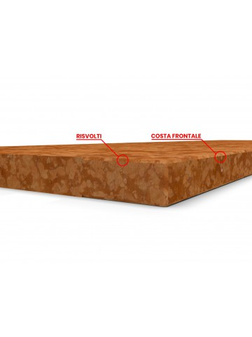 Trittstufe in Rosso Verona Marmor