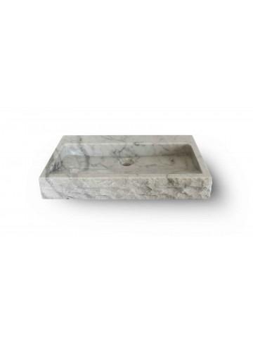 Quadratische Carrara weiße Waschbecken