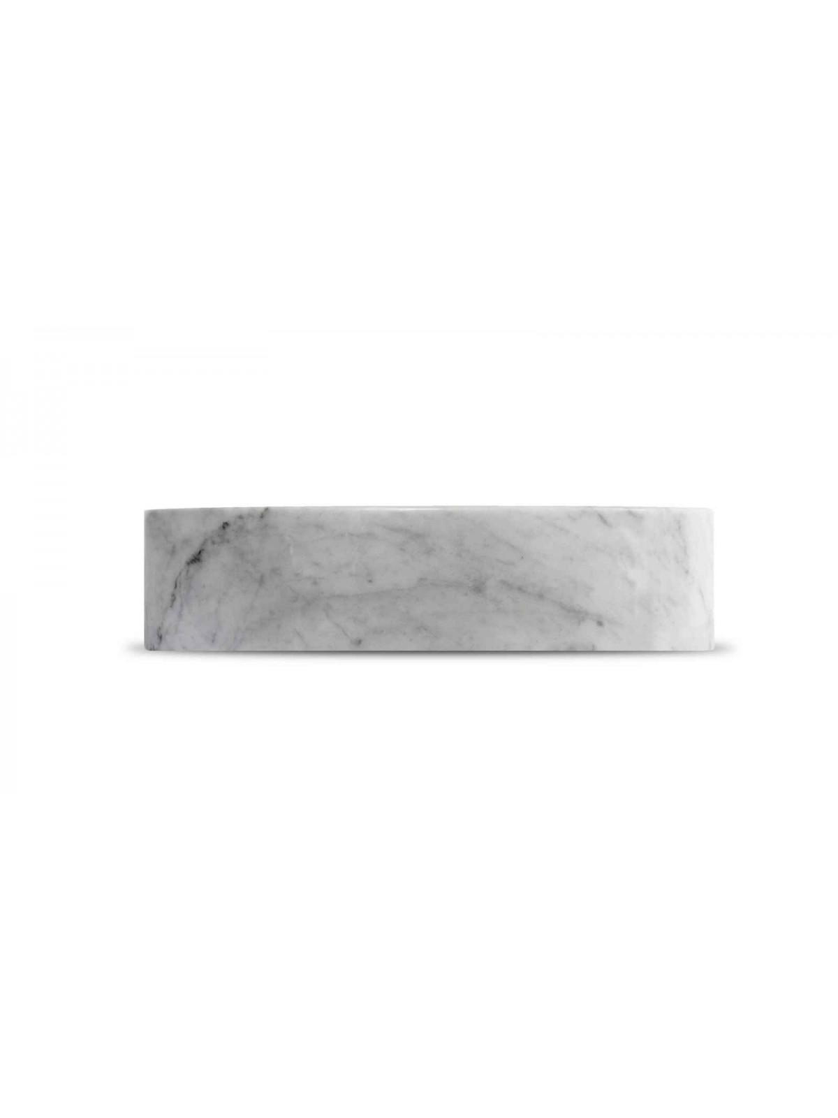 Runde Carrara weiße Sink