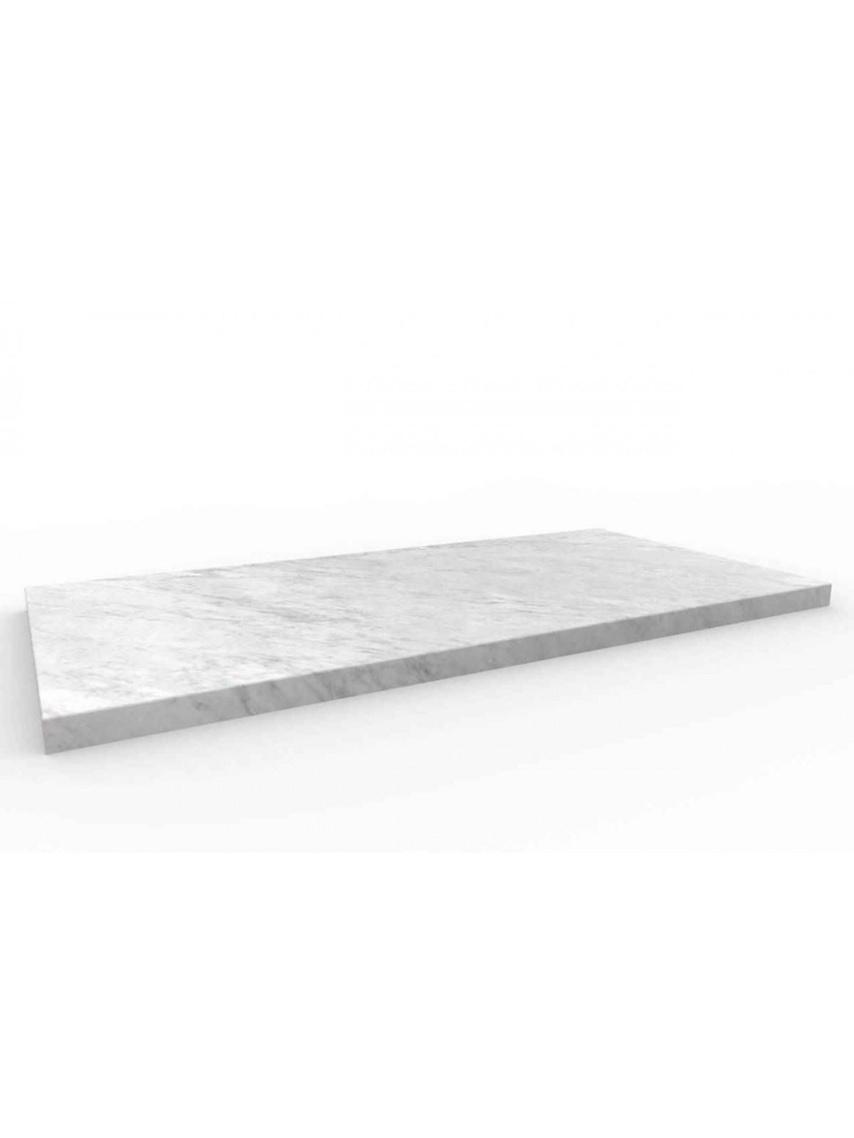 Etage 60x30 in Carrara Weiß