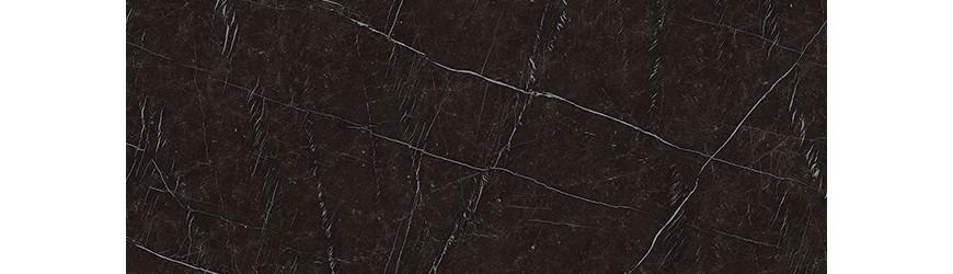 Kundenspezifische Atlas Nero Marquinia Keramik Küchenarbeitsplatte